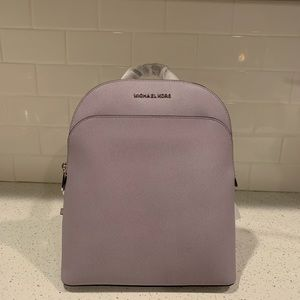 NWT Michael Kors large Emmy lilac backpack